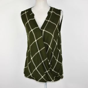 Ana A New Approach plaid blouse S